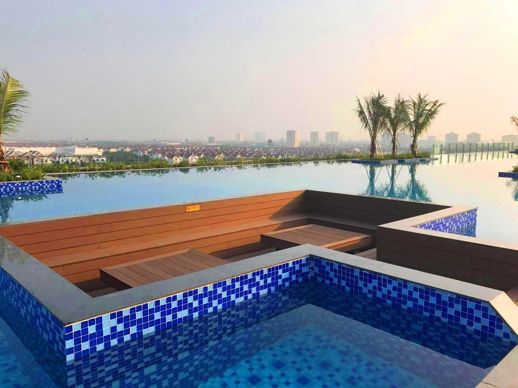 Sắp ra mắt Bể bơi vô cực Vinhomes Riverside The Harmony