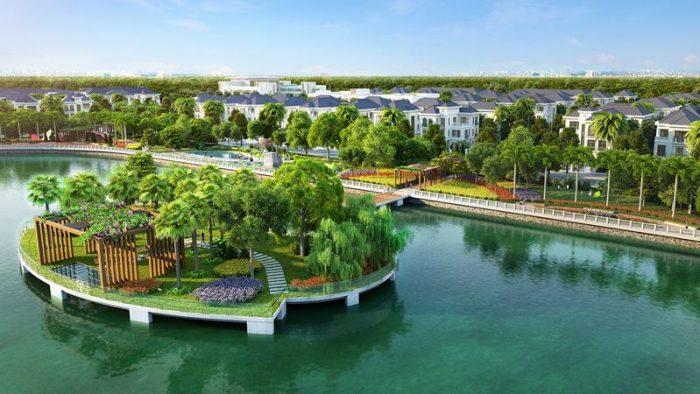 Biệt thự song lập Vinhomes Riverside The Harmony view hồ