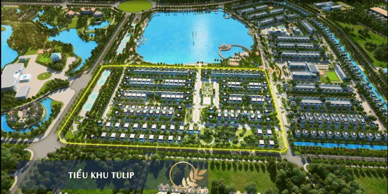 Biệt thự Tulip ven hồ Vinhomes Riverside The Harmony