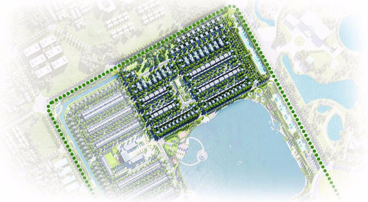 Thông tin mới về tiểu khu biệt thự Tulip nằm ven hồ