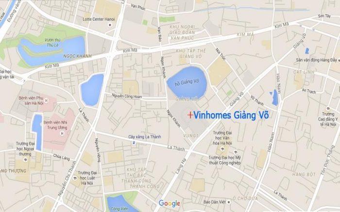 Đánh giá vị trí của Vinhomes Gallery Giảng Võ