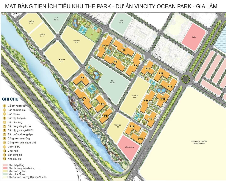 Tòa Park 7 Vincity Ocean Park là một trong 6 tòa tháp có thiết kế chữ U tại tiểu khu The Park. Tòa Park 7 cũng được đánh giá là một nơi an cư hoàn hảo khi hội tụ trọn vẹn các tiện ích thể thao ngoài trời THIẾT KẾ MẶT BẰNG TÒA PARK 7 VINCITY OCEAN PARK Park 7 là tòa chung cư được thiết theo hình U cao 26 tầng ở phía Tây Nam dự án Vincity Ocean Park Gia Lâm, thuộc phân khu The Park. Số căn hộ/mặt sàn: 30 căn Số lượng thang máy: 6 thang máy di chuyển, 2 thang hàng, 2 thang thoát hiểm Tầng 1-2: khu vực thương mại dịch vụ, tầng 3 trở lên là khu căn hộ Diện tích căn hộ: Từ 35.8 - 76.4 m2. Các loại hình căn hộ tại tòa Park 7: - Căn hộ Studio: Số lượng 02 căn/ sàn, rộng từ 35.8m2 đến 36.4 m2. Căn hộ Studio phù hợp với người độc thân hoặc gia đình trẻ chưa có con cái - Căn hộ 1 phòng ngủ: Số lương: 06 căn/ sàn. Diện tích căn hộ từ 42.8 - 43.1 m2. Căn hộ 1 phòng ngủ phù hợp với người độc thân, gia đình trẻ chưa có nhiều điều kiện kinh tế. Những căn hộ 1PN+ có thể sắp xếp thêm 01 phòng chức năng cho gia đình như phòng làm việc hay phòng ngủ nhỏ cho trẻ em. - Căn hộ 2 Phòng ngủ: Số lượng 18 căn/sàn. Các đối tượng phù hợp gồm là các hộ gia đình có ít người. Những căn 2PN+ có lợi thế hơn về diện tích, có thể thiết kế thêm 01 phòng chức năng tùy mục đích của gia chủ. - Căn hộ 3 phòng ngủ: với 04 căn/sàn, diện tích 75.3 - 76.4 m2 phù hợp với các gia đình đông người, hoặc các gia đình muốn có không gian thoải mái trong sinh hoạt VỊ TRÍ TÒA PARK 7 Tọa lạc tại vị trí góc phía Bắc phân khu The Park, tòa Park 7 sở hữu 3 mặt tiền Đây là một trong những vị trí khá đẹp tại tiểu khu The Park, khi vừa dễ dàng đi bộ sang khu công viên ven sông, vừa thuận tiện trong việc di chuyển tới các tiểu khu lân cận, đồng thời cũng mang lại tiềm năng kinh doanh vô cùng lớn tới chủ sở hữu các căn hộ Shophouse. Ngoài ra, Park 7 còn sở hữu hệ thống tiện ích thể thao vô cùng năng động khi ngay dưới chân tòa nhà là 2 sân bóng đá rộng lớn, các sân thể thao tennis, cầu lông, bóng rổ, bể bơi ngoài trời và đặc bi